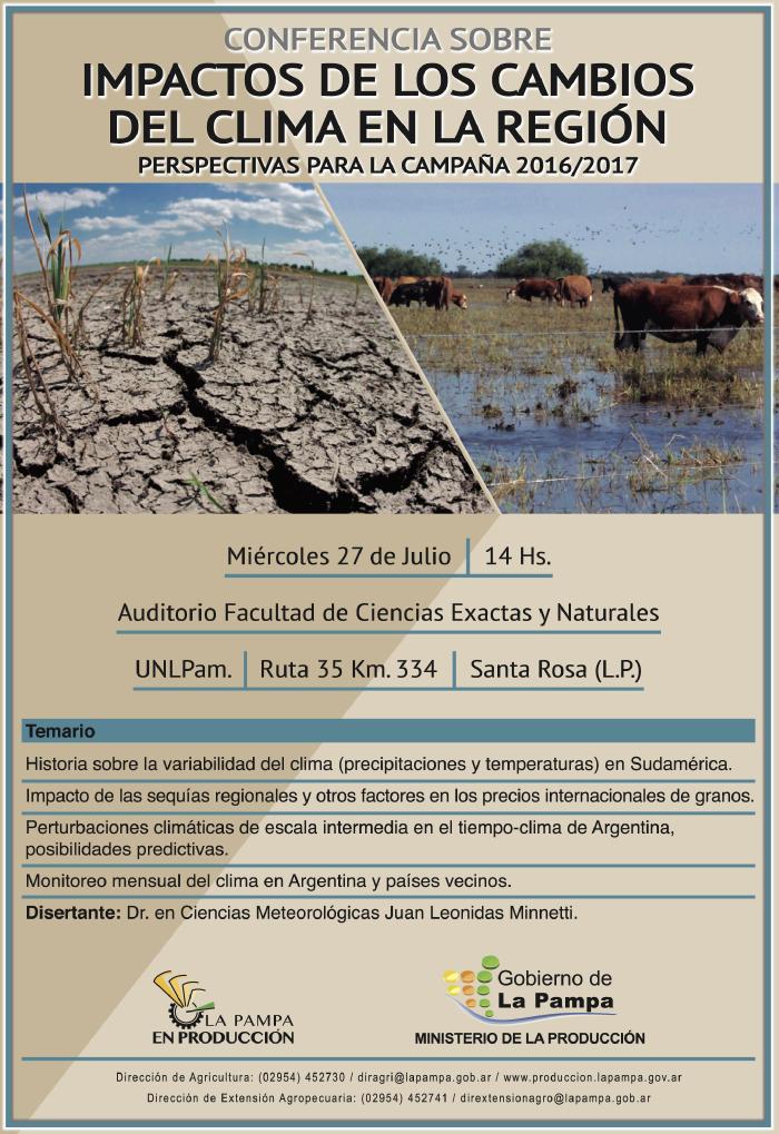 conferencia en La Pampa 2016